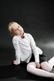 Stående av ung flicka arkivbild