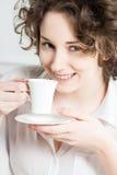 Härlig flicka på morgonen Fotografering för Bildbyråer