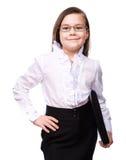 Ung flickaaffär Arkivfoton