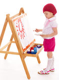 Ung flickaattraktioner. fotografering för bildbyråer