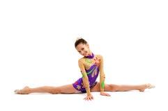 Ung flickagymnast Arkivfoton