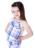 Ung flickastående Arkivfoto