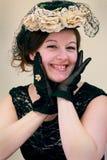 Ung Flirty gammalmodig Lady Fotografering för Bildbyråer