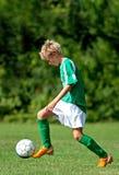 Ung fotbollspelare Arkivbilder
