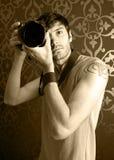 Ung fotograf Fotografering för Bildbyråer