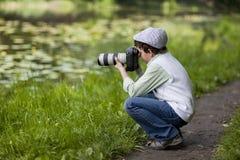 Ung fotograf Royaltyfri Fotografi