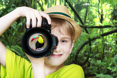 Ung fotograf Arkivfoton