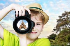 Ung fotograf Arkivbilder