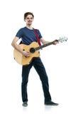 Ung gitarrspelare Arkivbilder