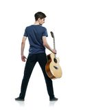 Ung gitarrspelare Royaltyfri Bild