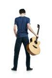 Ung gitarrspelare Fotografering för Bildbyråer