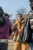 Ung glad skratta bulgarisk kuker Royaltyfri Bild