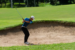 Ung golfare Royaltyfria Bilder