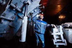 Ung gruvarbetareman fotografering för bildbyråer