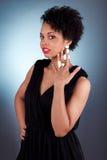 Ung härlig afrikansk amerikankvinnakvinna Arkivbild
