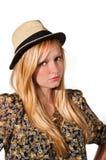 Ung härlig blond kvinna Arkivbilder