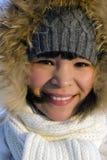 Ung härlig Chukchi kvinna Arkivfoto