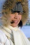 Ung härlig Chukchi kvinna royaltyfri bild