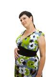 Ung härlig gravid kvinna Royaltyfri Bild