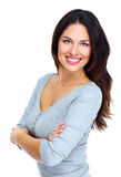 Ung härlig kvinnastående. Fotografering för Bildbyråer