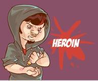 Ung heroinanvändare stock illustrationer