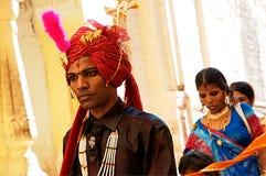 Ung indisk brudgum Fotografering för Bildbyråer