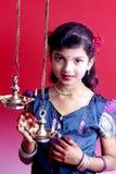 Ung indisk flicka Royaltyfri Fotografi