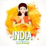Ung indisk flicka för republikdagberöm royaltyfri illustrationer