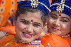 Ung indisk flicka för stående i New Delhi, Indien Royaltyfria Foton