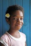Ung infödd Fijianflicka royaltyfria bilder