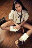 Ung japansk kvinna royaltyfria bilder