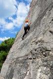 Ung klättrareflicka Arkivfoton