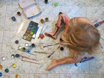 Ung konstnär Fotografering för Bildbyråer