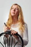 Ung kvinna. Arkivfoto