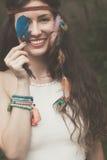 Ung kvinna för bohemisk stil Royaltyfri Foto