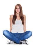 Ung kvinna för full längd Royaltyfri Foto