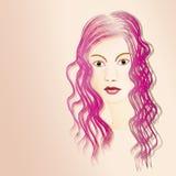 Ung kvinna för stående royaltyfri illustrationer