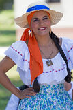 Ung kvinna från Costa Rica i traditionell dräkt 6 Royaltyfria Bilder