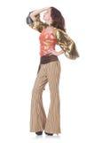 Ung kvinna i mode Arkivfoto