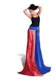 Lång klänning Fotografering för Bildbyråer