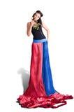 Lång klänning Royaltyfri Foto