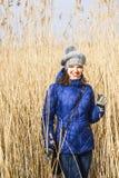 Ung kvinna i säv Abstrakt foto för vår Royaltyfri Foto