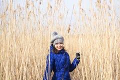 Ung kvinna i säv Abstrakt foto för vår Royaltyfri Bild
