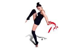 Gymnastkvinna Royaltyfri Foto