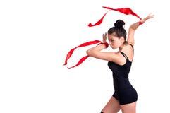 Gymnastkvinna Arkivfoton