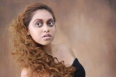 Ung kvinna med isprinsessamakeup Arkivfoton