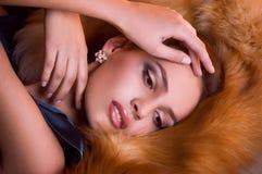 Ung kvinna med makeup Royaltyfria Foton