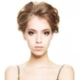 Ung kvinna med sund hud Royaltyfri Bild