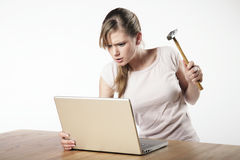 Ung kvinna på arbete Royaltyfri Fotografi