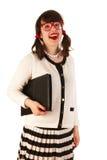 Ung kvinna på kontoret arkivbilder